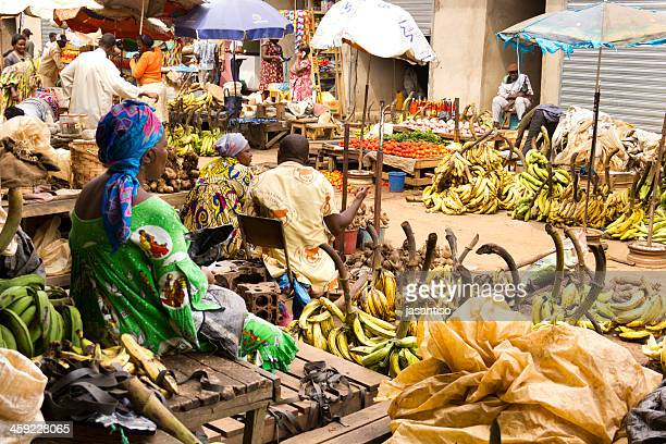 yaounde market day - cameroon stock pictures, royalty-free photos & images