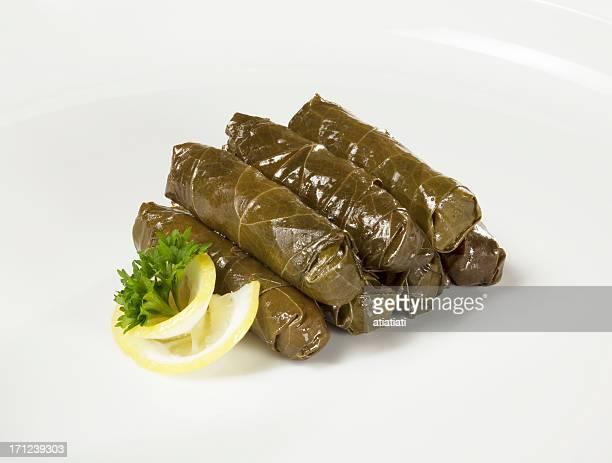 yaprak sarma, turkish cuisine - dolmades stock pictures, royalty-free photos & images