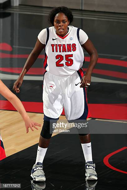 Yar Shayok of the Detroit Titans defends against the South Alabama Jaguars at The Matadome on November 24 2012 in Northridge California South Alabama...