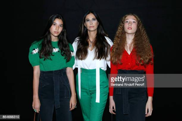 Yara Lapidus and her daughters Milla and Koukla attend the Lanvin show as part of the Paris Fashion Week Womenswear Spring/Summer 2018 on September...