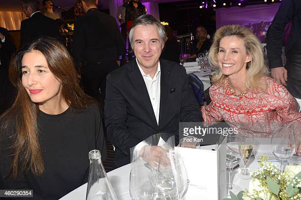 Yara Lapidus, Olivier Lapidus and Laura Restelli Brizard attend the 'Love Charity Chrismas Dinner' To Benefit Of Children Of Donetsk At La Maison...