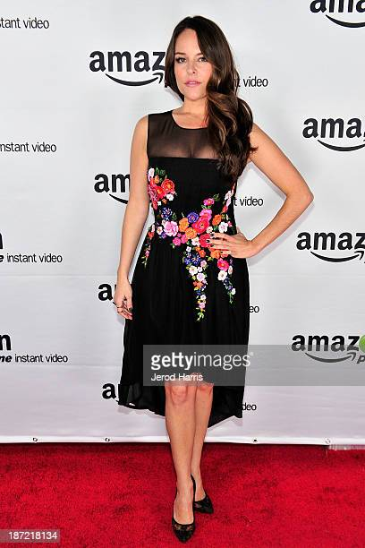 Yara Martinez arrives at Amazoncom red carpet launch party for Alpha House and Betas Los Angeles Premieres at Boulevard3 on November 6 2013 in...