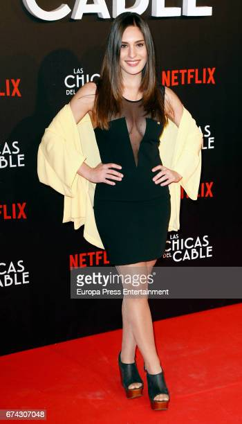 Yara Puebla attends the premiere of Netflix's 'Las Chicas del Cable' on April 27 2017 in Madrid Spain