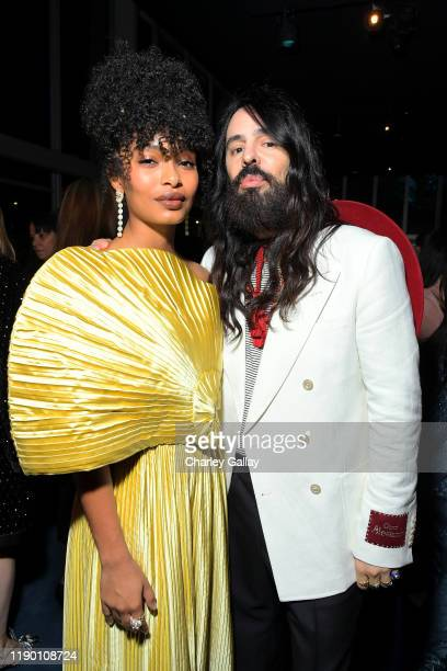 Yara Shahidi and Alessandro Michele both wearing Gucci attend the 2019 LACMA Art Film Gala Presented By Gucci at LACMA on November 02 2019 in Los...