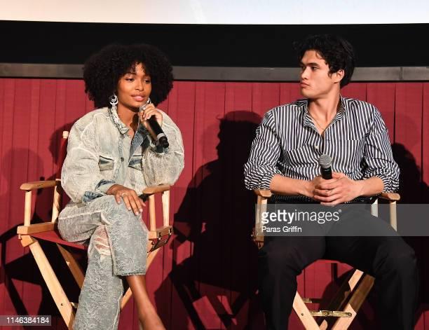 Yara Shahidi and Charles Melton attend The Sun Is Also A Star Atlanta screening at Regal Atlantic Station on May 01 2019 in Atlanta Georgia