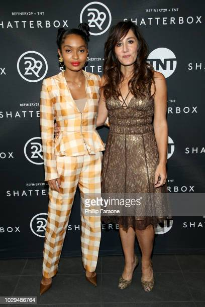 Yara Shahidi and Gillian Barnes celebrate Shatterbox with Refinery29 and TNT during 2018 Toronto International Film Festival at TIFF Bell Lightbox on...