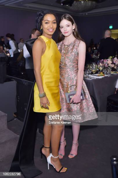 Yara Shahidi and Mackenzie Foy attend ELLE's 25th Annual Women In Hollywood Celebration presented by L'Oreal Paris Hearts On Fire and CALVIN KLEIN at...