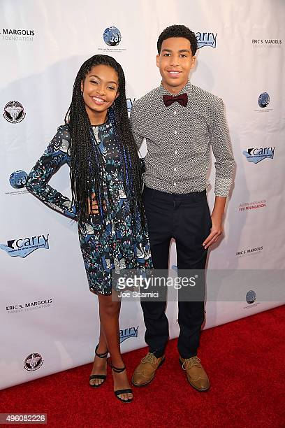 Yara Shahidi and Marcus Scribner arrives at Coalition for At-Risk-Restoring Youth - CARRY On Gala at InterContinental Hotel on November 6, 2015 in...