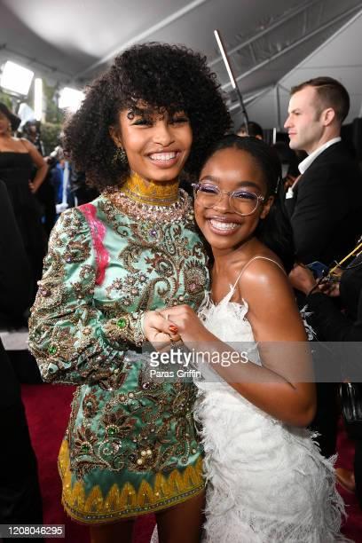Yara Shahidi and Marsai Martin attend the 51st NAACP Image Awards Presented by BET at Pasadena Civic Auditorium on February 22 2020 in Pasadena...