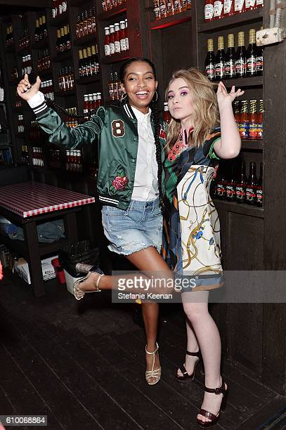Yara Shahidi and Sabrina Carpenter attend 14th Annual Teen Vogue Young Hollywood with American Eagle Outfitters on September 23 2016 in Malibu...
