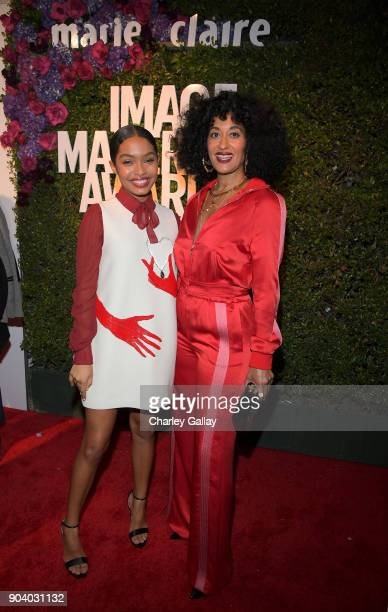 Yara Shahidi and Tracee Ellis Ross attend the Marie Claire's Image Makers Awards 2018 on January 11 2018 in West Hollywood California
