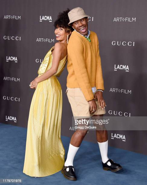 Yara Shahidi and Tyler The Creator arrive at the 2019 LACMA Art Film Gala Presented By Gucci on November 2 2019 in Los Angeles California