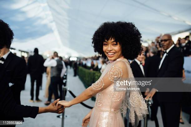 Yara Shahidi arrives at the 25th annual Screen Actors Guild Awards at The Shrine Auditorium on January 27, 2019 in Los Angeles, California.