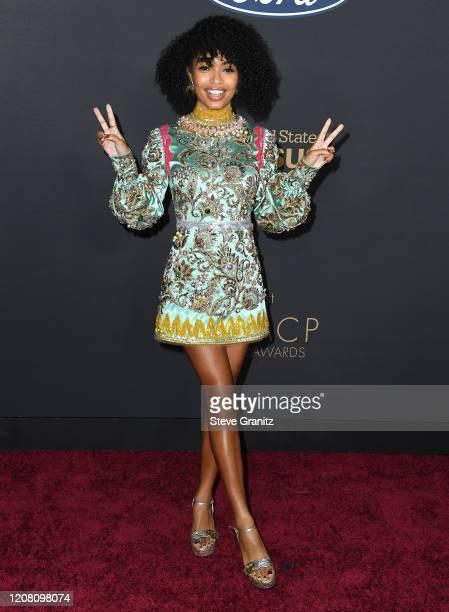 Yara Shahidi arrives at the 51st NAACP Image Awards on February 22, 2020 in Pasadena, California.