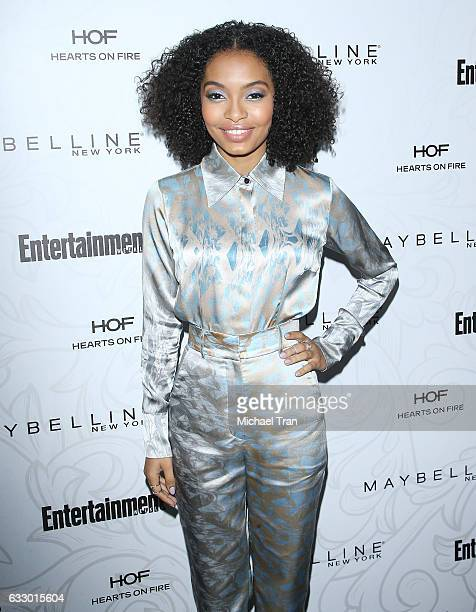 Yara Shahidi arrives at the Entertainment Weekly hosts celebration honoring nominees for The Screen Actors Guild Awards held at Chateau Marmont on...