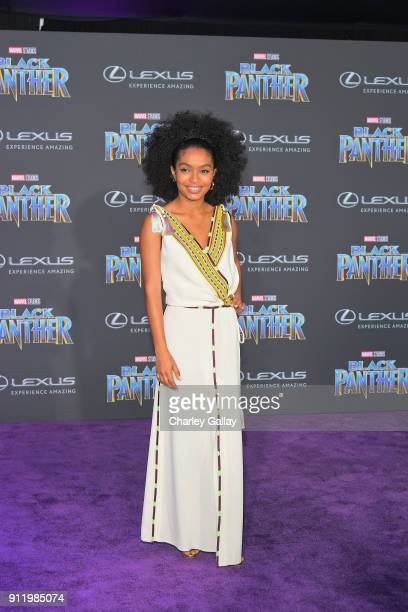 Yara Shahidi arrives for the World Premiere of Marvel Studios' Black Panther presented by Lexus at Dolby Theatre in Hollywood on January 29th