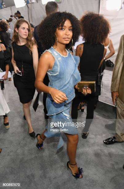 Yara Shahidi at the 2017 BET Awards at Staples Center on June 25 2017 in Los Angeles California