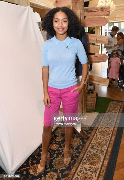 Yara Shahidi at the Brooks Brothers Beverly Hills summer camp party benefitting St Jude Children's Research Hospital at Brooks Brothers Rodeo on June...