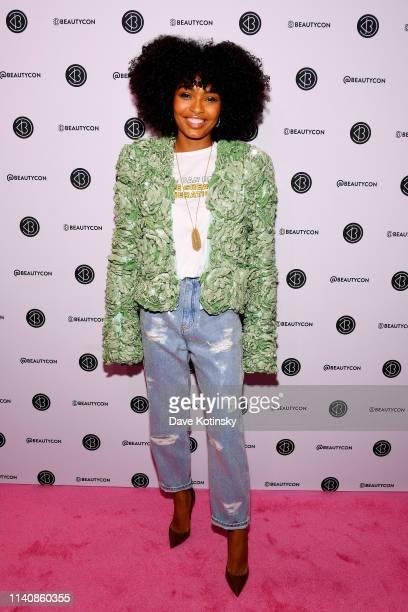 Yara Shahidi attends Beautycon Festival New York 2019 at Jacob Javits Center on April 06 2019 in New York City