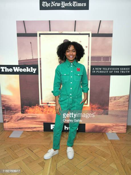 Yara Shahidi attends FX and The New York Times' The Weekly event at The London Hotel on May 30, 2019 in West Hollywood, California.