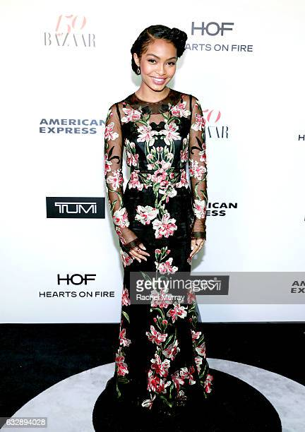 Yara Shahidi attends Harper's BAZAAR celebration of the 150 Most Fashionable Women presented by TUMI in partnership with American Express La Perla...