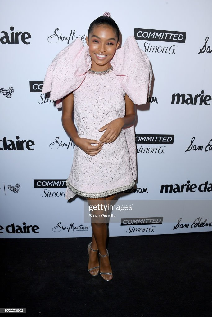 Yara Shahidi attends Marie Claire's 5th annual 'Fresh Faces' at Poppy on April 27, 2018 in Los Angeles, California.