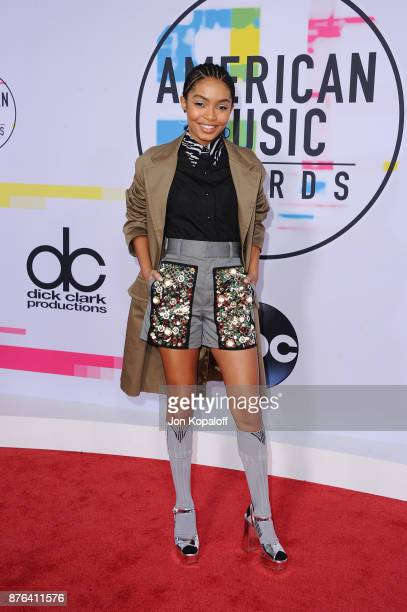 Yara Shahidi attends the 2017 American Music Awards at Microsoft Theater on November 19 2017 in Los Angeles California