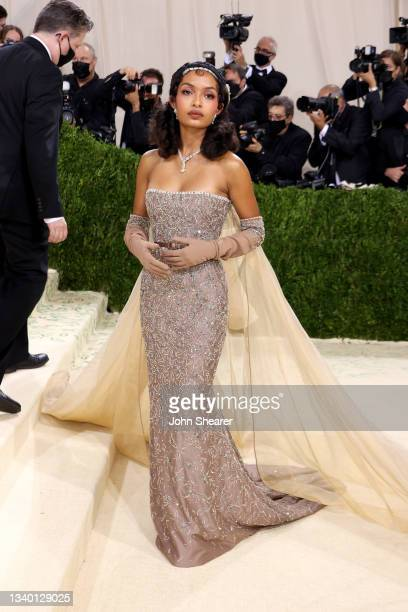 Yara Shahidi attends The 2021 Met Gala Celebrating In America: A Lexicon Of Fashion at Metropolitan Museum of Art on September 13, 2021 in New York...