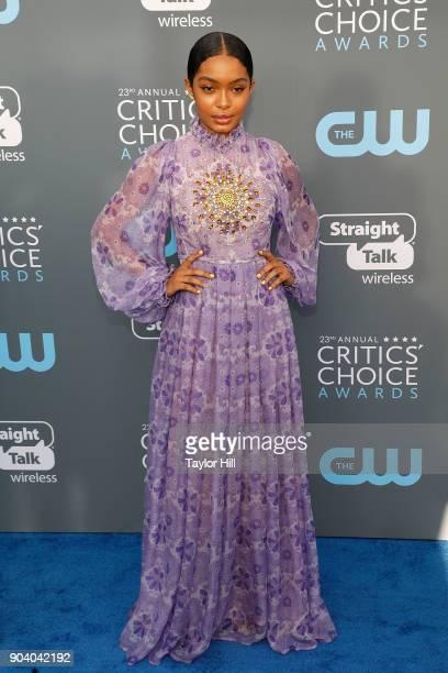 Yara Shahidi attends the 23rd Annual Critics' Choice Awards at Barker Hangar on January 11 2018 in Santa Monica California