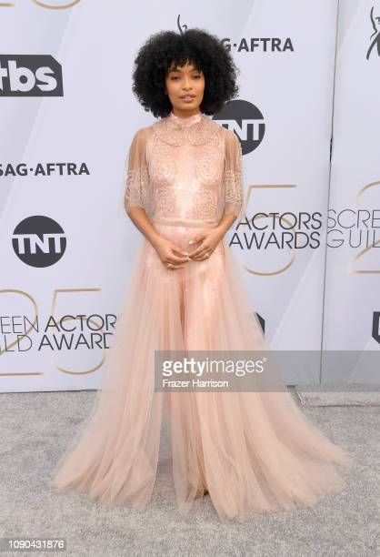Yara Shahidi attends the 25th Annual Screen Actors Guild Awards at The Shrine Auditorium on January 27 2019 in Los Angeles California