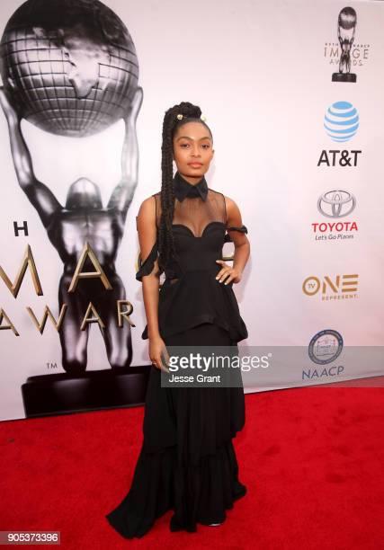Yara Shahidi attends the 49th NAACP Image Awards at Pasadena Civic Auditorium on January 15 2018 in Pasadena California