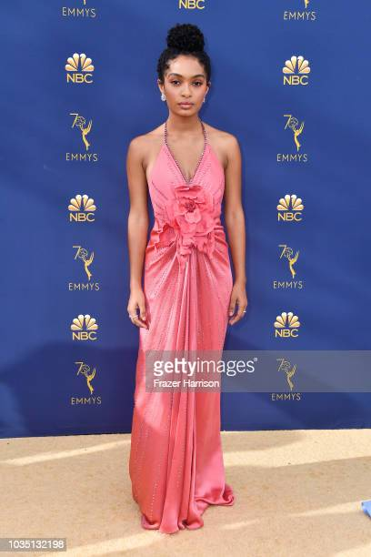 Yara Shahidi attends the 70th Emmy Awards at Microsoft Theater on September 17 2018 in Los Angeles California