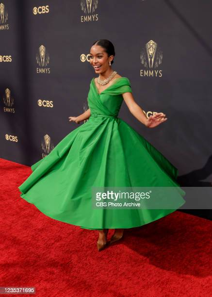 Yara Shahidi attends the 73RD EMMY AWARDS on Sunday, Sept. 19 on the CBS Television Network and available to stream live and on demand on Paramount+.