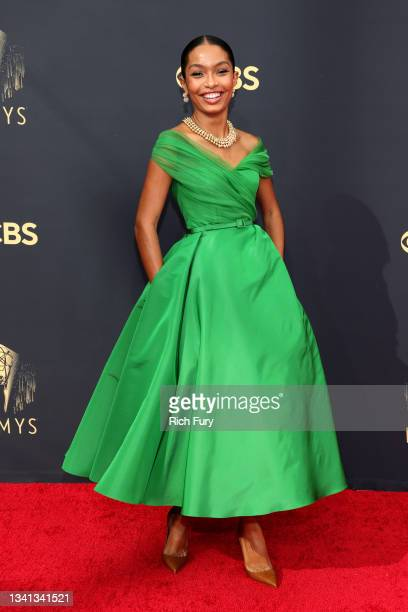 Yara Shahidi attends the 73rd Primetime Emmy Awards at L.A. LIVE on September 19, 2021 in Los Angeles, California.