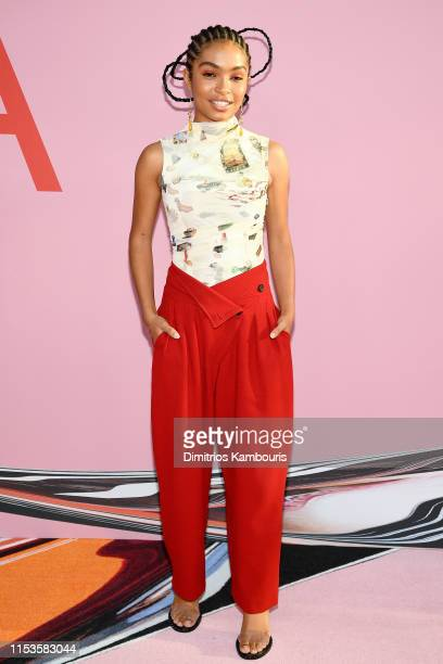 Yara Shahidi attends the CFDA Fashion Awards at the Brooklyn Museum of Art on June 03 2019 in New York City