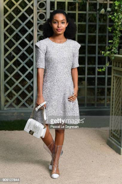 Yara Shahidi attends the Chanel Haute Couture Spring Summer 2018 show as part of Paris Fashion Week on January 23, 2018 in Paris, France.