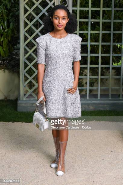 Yara Shahidi attends the Chanel Haute Couture Spring Summer 2018 show as part of Paris Fashion Week January 23 2018 in Paris France