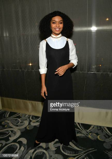 Yara Shahidi attends the GLSEN Respect Awards at the Beverly Wilshire Four Seasons Hotel on October 19 2018 in Beverly Hills California