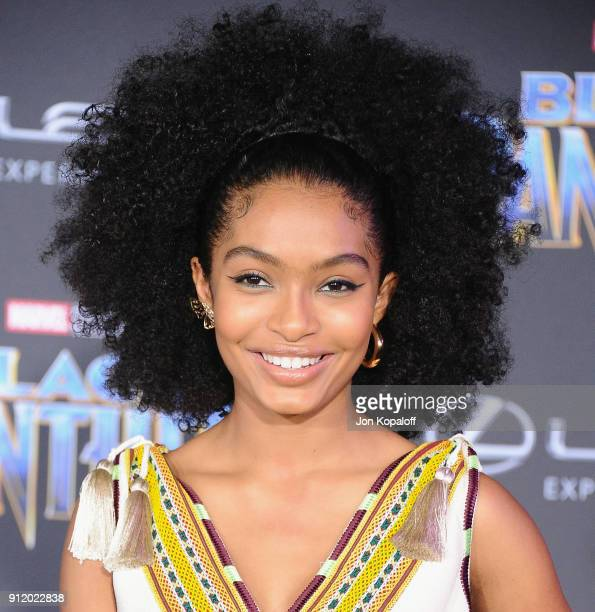 Yara Shahidi attends the Los Angeles Premiere Black Panther at Dolby Theatre on January 29 2018 in Hollywood California