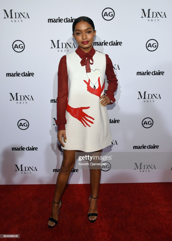 Yara Shahidi attends the Marie Claire's Image Makers Awards 2018 at Delilah LA on January 11, 2018 in West Hollywood, California.