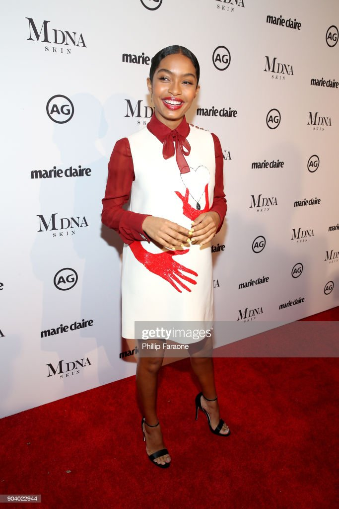 Yara Shahidi attends the Marie Claire's Image Makers Awards 2018 on January 11, 2018 in West Hollywood, California.