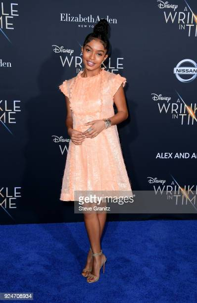 Yara Shahidi attends the premiere of Disney's 'A Wrinkle In Time' at the El Capitan Theatre on February 26 2018 in Los Angeles California