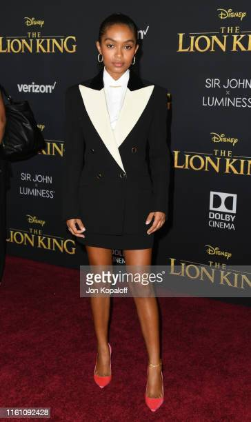 Yara Shahidi attends the Premiere Of Disney's The Lion King at Dolby Theatre on July 09 2019 in Hollywood California