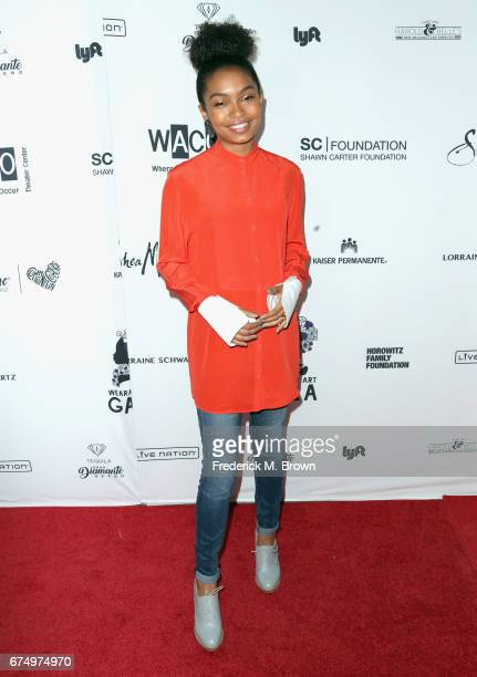 Yara Shahidi attends the Wearable Art Gala at California African American Museum on April 29 2017 in Los Angeles California