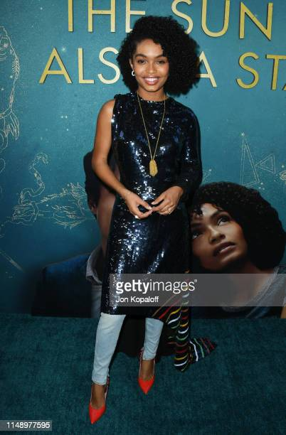 "Yara Shahidi attends the World Premiere Of Warner Bros ""The Sun Is Also A Star"" at Pacific Theaters at the Grove on May 13, 2019 in Los Angeles,..."