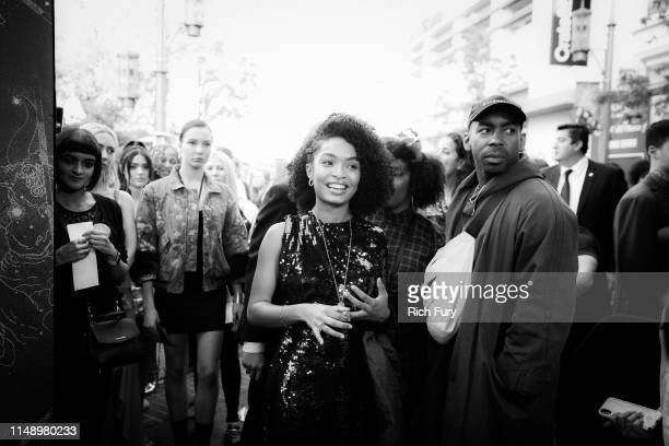 Yara Shahidi attends the World Premiere Of Warner Bros The Sun Is Also A Star at Pacific Theaters at the Grove on May 13 2019 in Los Angeles...