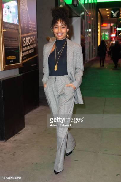 "Yara Shahidi attends ""Tina: The Tina Turner Musical"" on Broadway on January 31, 2020 in New York City."