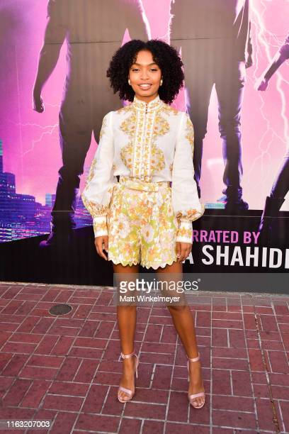"Yara Shahidi attendsthe Audible Original Stan Lee's ""Alliances: A Trick of Light"" Experience at San Diego Comic-Con on July 20, 2019 in San Diego,..."