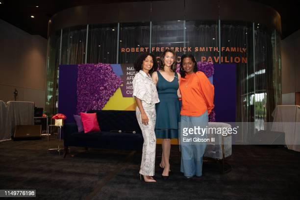 Yara Shahidi Fredricka Whitfield and Keri Shahidi pose for a photo at the 2019 Women's E3 Summit at National Museum Of African American History...