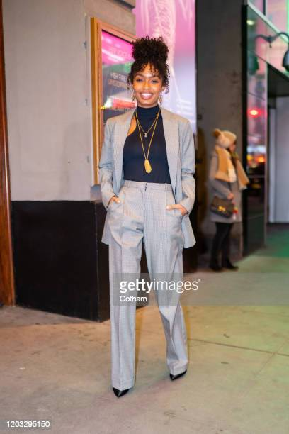 Yara Shahidi is seen in Midtown on January 31, 2020 in New York City.